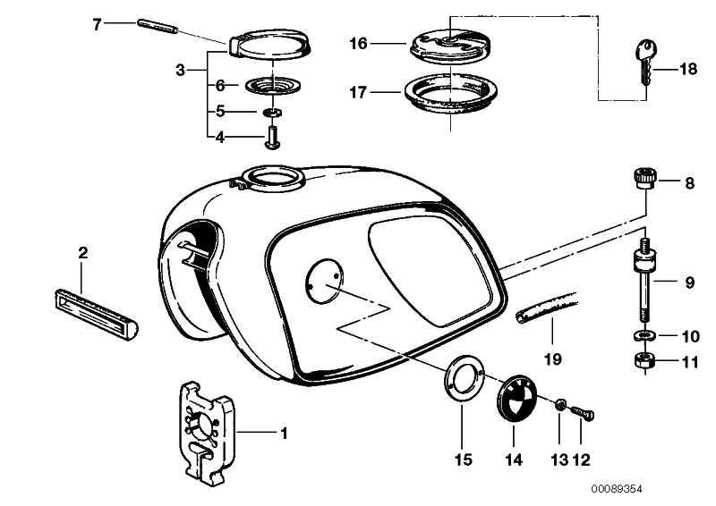 Tankverschluss abschliessbar  R50/5-R90S  (16111232348)