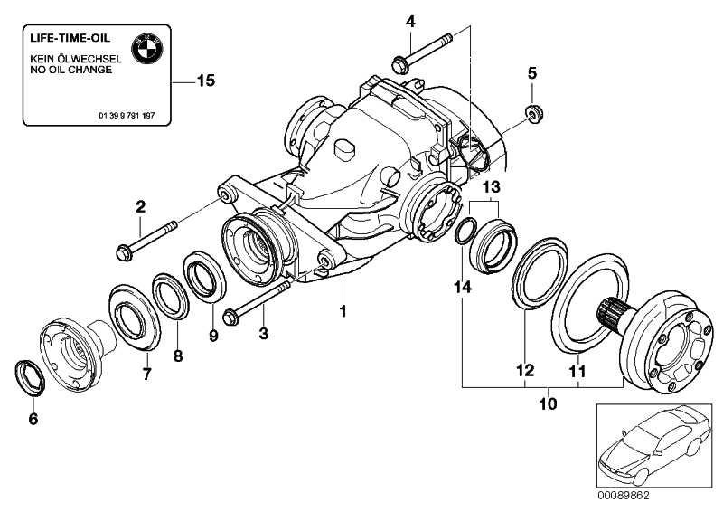 Austausch Hinterachsgetriebe I=3,07 3er  (33107566172)