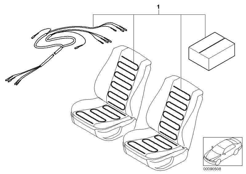 Nachrüstsatz Sitzheizung Beidseitig  3er  (52119402814)