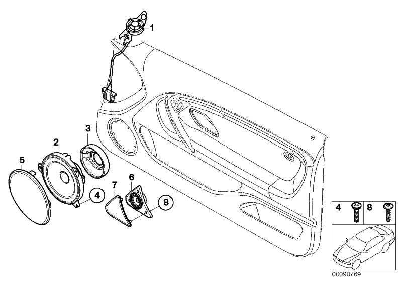 Breitbandlautsprecher Stereo System 50-13.000HZ     3er  (65136908380)