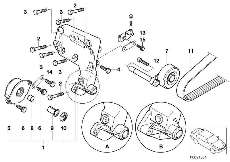 Stütze Lagerbock Klimakompressor  3er 5er 7er X5  (64557785065)