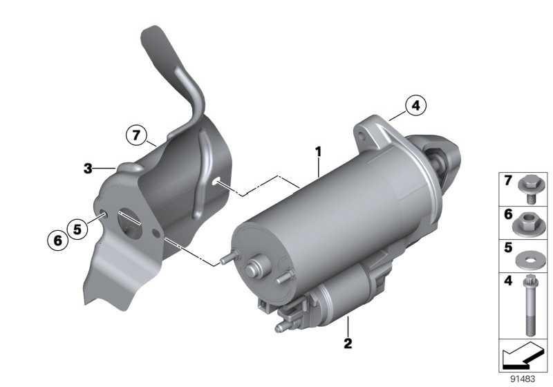 Magnetschalter DENSO           1er 3er 5er 6er 7er X3 X5 X6 Z4  (12417526232)