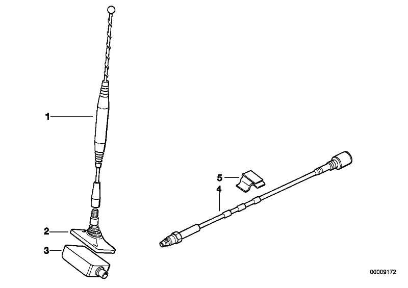 Antennenfuss Heckscheibentelefonantenne D-NETZ          3er 5er 7er 8er  (84508375135)