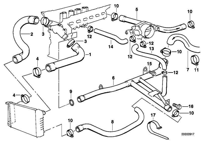 Schlauch Heizkörper-Motorrücklauf  3er  (11531703844)