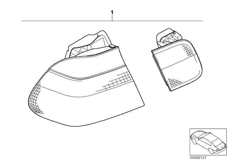 Nachrüstkabelsatz Heckleuchte Facelift  3er  (61120140220)