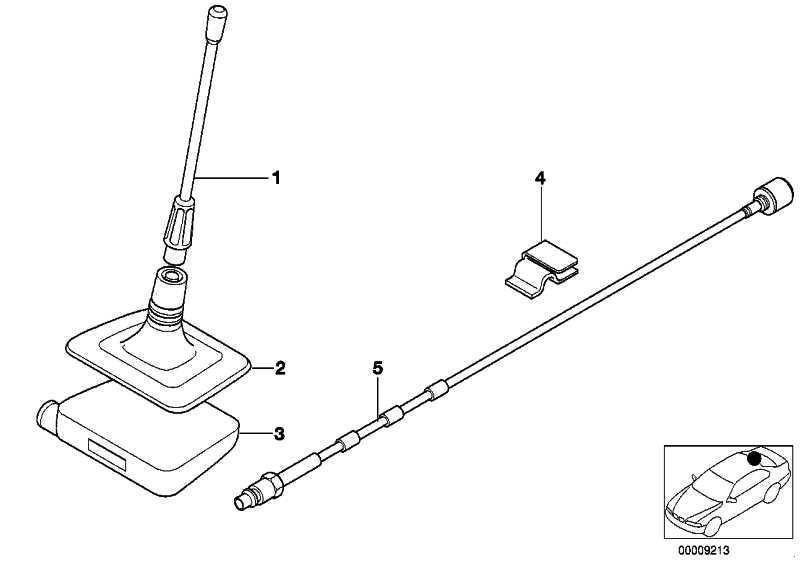 Antennenfuss Heckscheibentelefonantenne  5er  (84506907303)