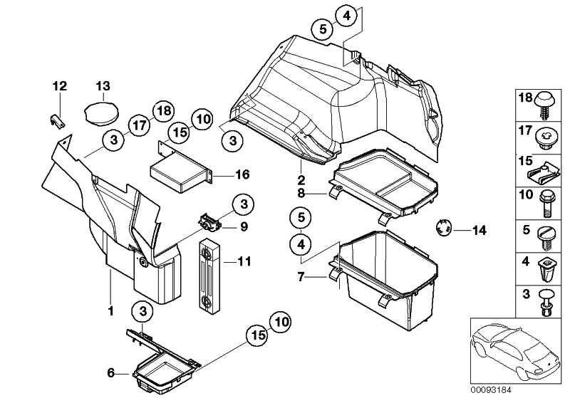 Abdeckung Batterie Gepäckraum  3er  (51478193803)