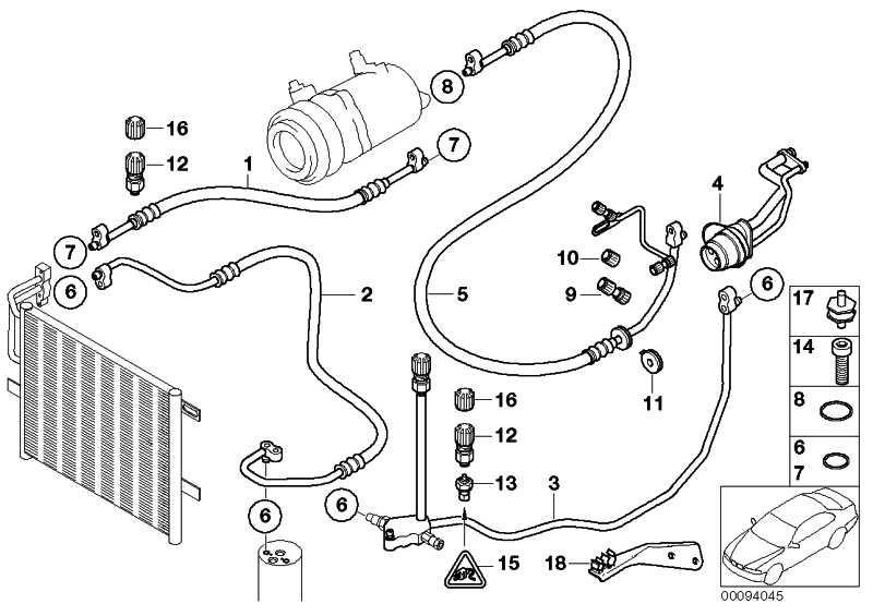 Druckleitung Kompressor-Kondensator  3er  (64536946354)