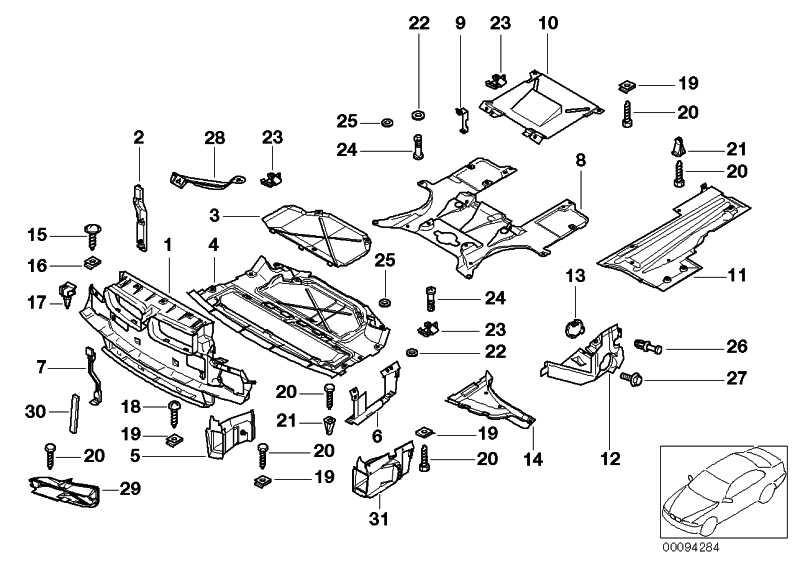 Deckel Motorraumabschirmung  7er  (51718240939)