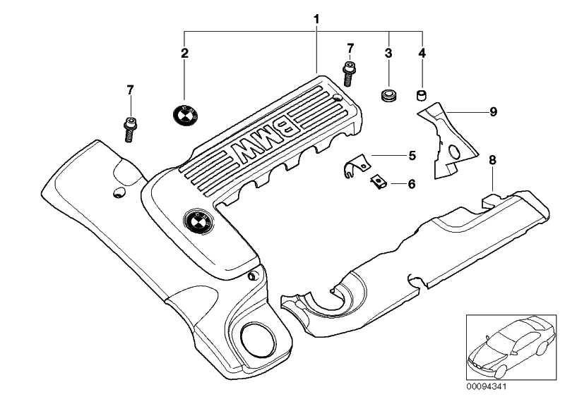 Zylinderschraube mit Scheibe M6X20-ZNNID SW  1er 3er 5er 6er 7er X1 X3 X5 X6 Z4  (07119906086)
