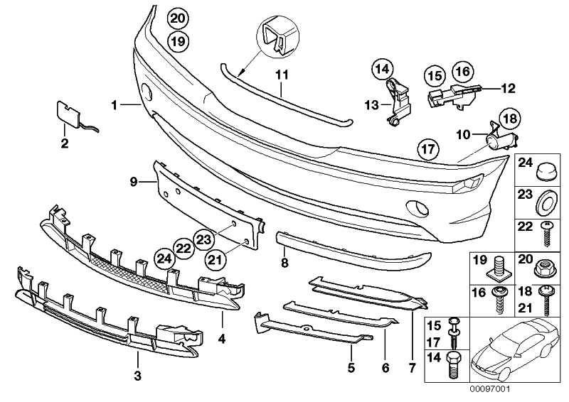 Verkleidung Stossfänger lackiert vorn CODE - UNI/MET. 3er  (51110030351)