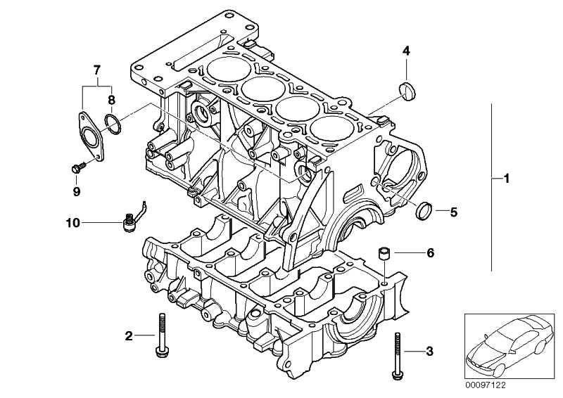 Zylinder-Kurbelgehäuse mit Kurbeltrieb  MINI  (11117581399)