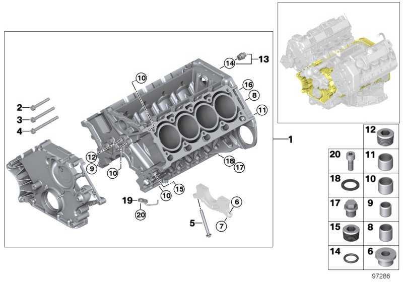 Zylinder-Kurbelgehäuse mit Kolben ALUSIL          7er  (11110304655)