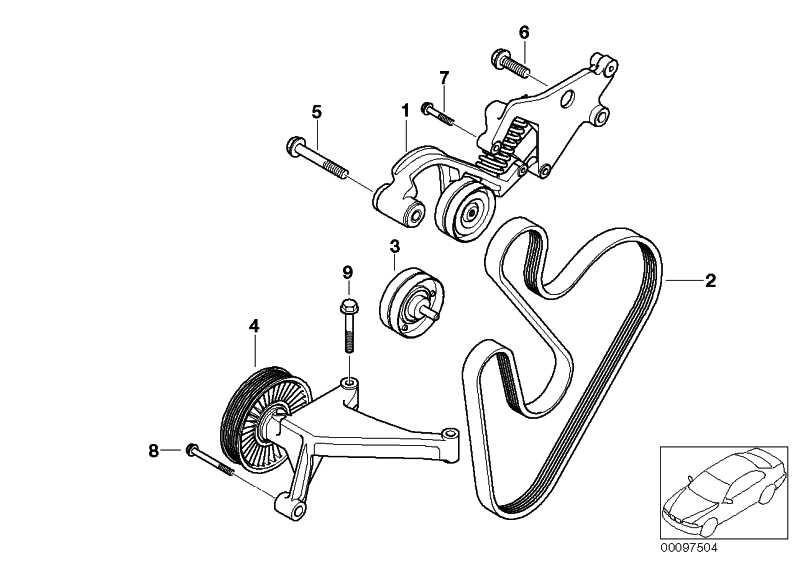Riemenspanner hydraulisch  MINI  (11287509476)