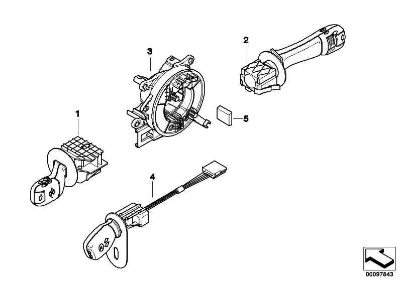 Schalter Scheibenwischer  5er  (61318360880)