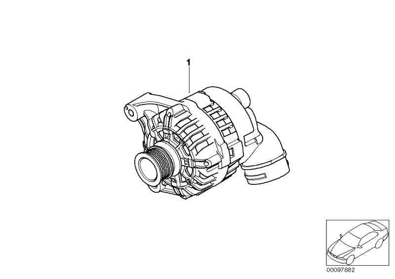Austausch Kompakt Generator 120A            3er Z3  (12317831436)