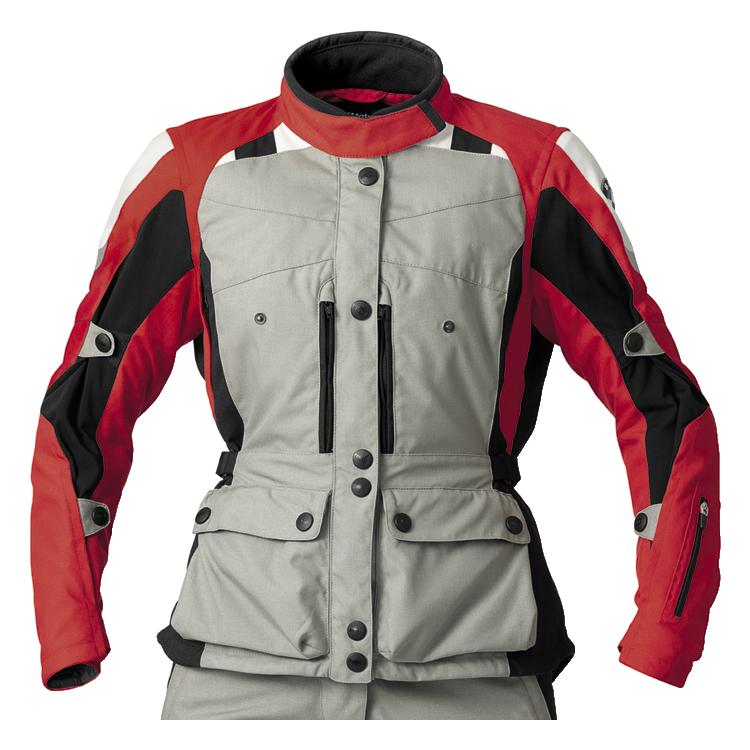 BMW Jacke GS Dry für Damen, grau/rot
