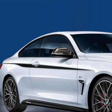 BMW M Performance Akzentstreifen schwarz/silber 4er F32