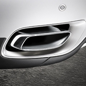 BMW Endrohrblende Chrom X6 30dx N57 und 40dx 6-Zylinder in 8-Zylinder Optik*