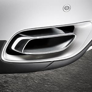 BMW Endrohrblende Chrom X6 E71 35ix N55 und 40ix 6-Zylinder in 8-Zylinder Optik*