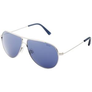 BMW Sonnenbrille Metall silber/blau