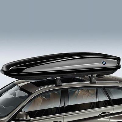 BMW Dachbox 520, schwarz glänzend, titansilber