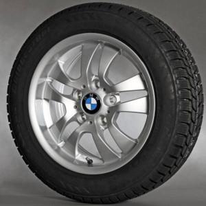 BMW Alufelge Doppelspeiche 154 7J x 16 ET 34 Silber Vorderachse / Hinterachse BMW 3er E90 E91