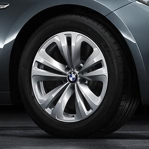 BMW Alufelge Doppelspeiche 234 8J x 18 ET 30 Silber Vorderachse / Hinterachse BMW 7er F01 F02 F04 6er F06 F12 F13 5er F07
