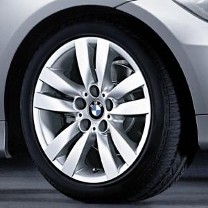 BMW Alufelge Doppelspeiche 161 8,5J x 17 ET 37 Silber Hinterachse BMW 3er E90 E91 E92 E93
