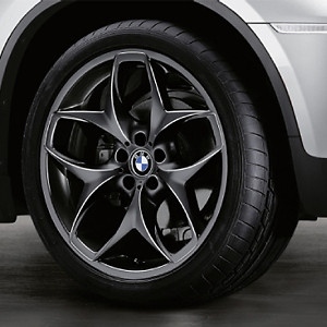 BMW Alufelge Doppelspeiche 215 11,5J x 21 ET 38 Schwarz Hinterachse BMW X5 E70 X6 E71 E72