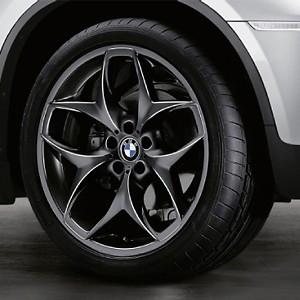 BMW Kompletträder Doppelspeiche 215 schwarz 21 Zoll X5 F15 X6 F16 RDCi