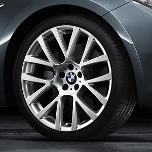 BMW Winterkompletträder Doppelspeiche 238 silber 18 Zoll 5er F07 7er F01 F02 F04 RDC LC