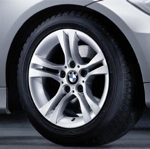 BMW Kompletträder Doppelspeiche 268 16 Zoll Silber 3er E90 E91