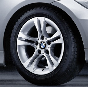 BMW Alufelge Doppelspeiche 268 7J x 16 ET 31 Silber Vorderachse / Hinterachse BMW 3er E90 E91