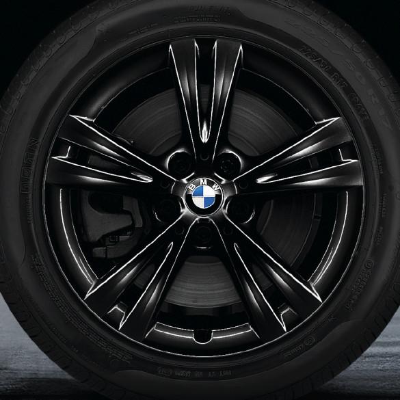 BMW Alufelge Doppelspeiche 385 7,5 J x 17 ET 52 schwarz glänzend 17 Zoll Vorderachse / Hinterachse X1 F48