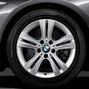BMW Alufelge Doppelspeiche 392 7,5J x 17 ET 37 Silber Vorderachse / Hinterachse BMW 3er F30 F31 4er F32 F33 F36