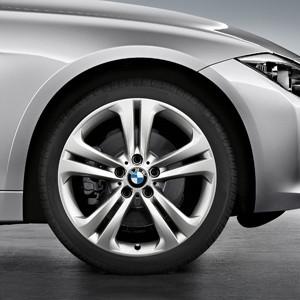 BMW Kompletträder Doppelspeiche 401 silber 19 Zoll 3er F30 F31 4er F32 F33 F36 RDCi