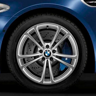 BMW Winterkompletträder M Doppelspeiche 409 silber 20 Zoll RDC LC M5 F10 M6 F06 F12 F13