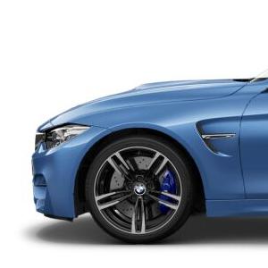 BMW Alufelge M Doppelspeiche 437 10J x 19 ET 40 Jet Black Hinterachse BMW 3er F80 M3 4er F82 M4 F83 M4