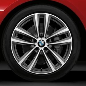 BMW Alufelge Doppelspeiche 466 9J x 19 ET 42 Silber Hinterachse BMW 3er F34 GT
