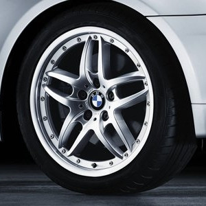BMW Alufelge Doppelspeiche 71 7,5J x 17 ET 41 Vorderachse BMW Z4 E85, 3er E46