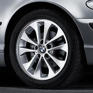 BMW Alufelge Doppelspeiche 98 7J x 17 ET 47 Silber Vorderachse / Hinterachse BMW 3er E46 1er E87