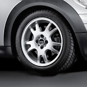 MINI Alufelge Double Spoke 87 5,5J x 16 ET 45 Silber Vorderachse / Hinterachse MINI R50 MINI Cabrio R52 R57 MINI R53 R56 MINI Clubman R55 MINI Coupe R58 MINI Roadster R59