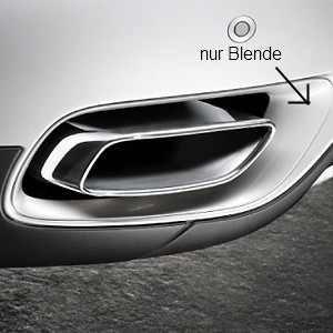 BMW Satz Blenden Stoßfänger grundiert hinten X6 30dx/35dx M57 und 35ix N54/N55 6-Zylinder in 8-Zylinder Optik