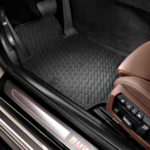 BMW Satz Gummimatten hinten schwarz, passend für 6er F12 / F13
