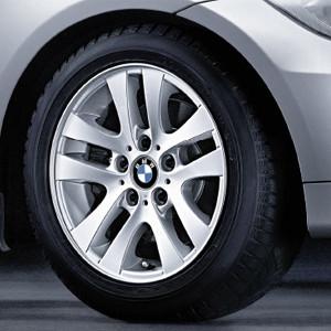 BMW Alufelge Doppelspeiche 156 7J x 16 ET 34 Silber Vorderachse / Hinterachse BMW 3er E90 E91
