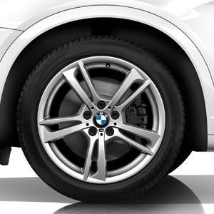 BMW Alufelge M Doppelspeiche 369 8,5J x 19 ET 38 Silber Vorderachse / Hinterachse BMW X3 F25 X4 F26