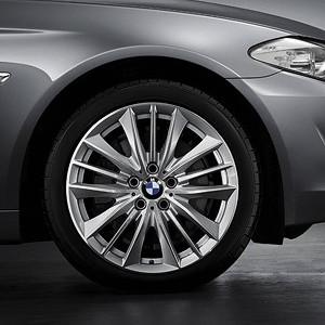 BMW Alufelge W-Speiche 332 8,5J x 19 ET 33 Silber Vorderachse / Hinterachse BMW 6er F06 F12 F13 5er F10 F11