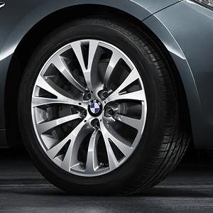 BMW Alufelge Y-Speiche 315 8,5J x 19 ET 25 Silber Vorderachse BMW 7er F01 F02 F04 5er F07