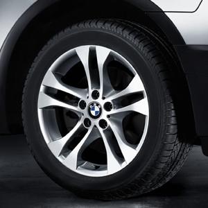 BMW Alufelge Doppelspeiche 205 8J x 18 ET 46 Silber Vorderachse / Hinterachse BMW X3 E83
